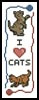 Cat Bookmark - Cross Stitch Chart