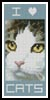 Cat Bookmark 3 - Cross Stitch Chart
