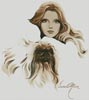 Catherine and Pekingese - Cross Stitch Chart