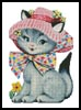 Cat in a Hat - Cross Stitch Chart
