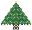 Celtic Christmas Tree - Cross Stitch Chart