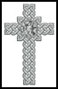Celtic Cross April (Diamond) - Cross Stitch Chart
