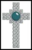 Celtic Cross December (Turquoise) - Cross Stitch Chart