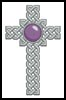 Celtic Cross February (Amethyst) - Cross Stitch Chart