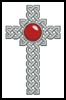 Celtic Cross July (Ruby) - Cross Stitch Chart