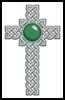 Celtic Cross May (Emerald) - Cross Stitch Chart