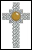 Celtic Cross November (Topaz) - Cross Stitch Chart