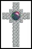 Celtic Cross October (Opal) - Cross Stitch Chart