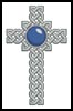 Celtic Cross September (Sapphire) - Cross Stitch Chart
