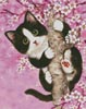 Cherry Blossom Cat - Cross Stitch Chart