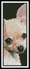 Chihuahua Bookmark - Cross Stitch Chart