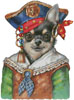Chihuahua Pirate - Cross Stitch Chart