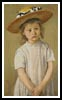 Child in a Straw Hat - Cross Stitch Chart