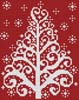 Christmas Tree Card - Cross Stitch Chart