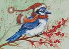 Christmas Blue Jay - Cross Stitch Chart