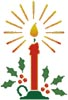 Christmas Candle - Cross Stitch Chart
