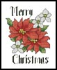 Christmas Flowers Card - Cross Stitch Chart