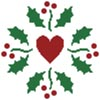 Christmas Holly Heart - Cross Stitch Chart