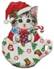 Christmas Kitty Cup - Cross Stitch Chart
