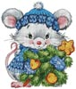 Christmas Mouse - Cross Stitch Chart