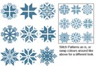 Christmas Snowflake Set 2 - Cross Stitch Chart