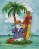 Christmas Surfer - Cross Stitch Chart