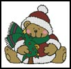 Christmas Teddy - Cross Stitch Chart