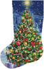 Christmas Tree Stocking (Left) - Cross Stitch Chart