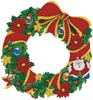 Christmas Wreath 2 - Cross Stitch Chart