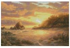 Coastal Sunset - Cross Stitch Chart