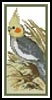 Cockatiel Bookmark - Cross Stitch Chart