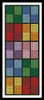 Coloured Checkered Bookmark - Cross Stitch Chart