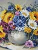 Colourful Bouquet (Crop) - Cross Stitch Chart