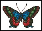 Colourful Butterfly - Cross Stitch Chart
