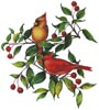 Colourful Cardinals (No Background) - Cross Stitch Chart
