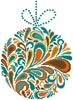 Colourful Christmas Bauble 2 - Cross Stitch Chart