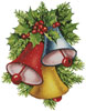 Colourful Christmas Bells - (Facebook Group) Cross Stitch Chart