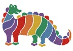 Colourful Dinosaur - Cross Stitch Chart