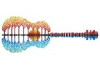 Colourful Guitar Landscape - Cross Stitch Chart