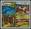 Colourful Landscape Sampler - Cross Stitch Chart