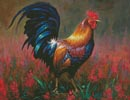 Colourful Rooster - Cross Stitch Chart