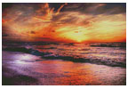 Colourful Sunset 2 - Cross Stitch Chart