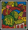 Colourful Town Scene - Cross Stitch Chart