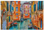 Colourful Venice Street - Cross Stitch Chart