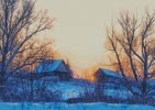 Colourful Winter Sunrise - Cross Stitch Chart