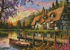 Cottage Evening Sunset (Large) - Cross Stitch Chart