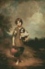 Cottage Girl with Dog and Pitcher - Cross Stitch Chart