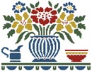 Cottage Shelf - Cross Stitch Chart