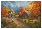 Country Blessings Painting (Large) - Cross Stitch Chart
