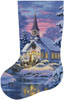 Country Church Stocking Left (Large) - Cross Stitch Chart